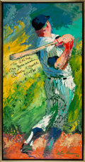 Baseball Collectibles:Others, 1966 Mickey Mantle Original Painting by LeRoy Neiman.. ...
