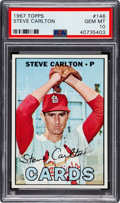 Baseball Cards:Singles (1960-1969), 1967 Topps Steve Carlton #146 PSA Gem Mint 10 - Pop One! ...