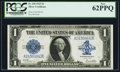 Large Size:Silver Certificates, Fr. 238 $1 1923 Silver Certificate PCGS New 62PPQ.. ...