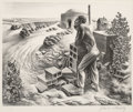Fine Art - Work on Paper:Print, John Stockton de Martelly (1903-1980). Looking at the Sunshine, 1939. Lithograph on wove paper. 10-1/4 x 12-3/4 inches (...