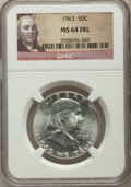 Franklin Half Dollars, 1963 50C MS64 Full Bell Lines NGC. NGC Census: (191/41). PCGS Population: (701/203). CDN: $300 Whsle. Bid for problem-free ...