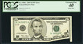 Error Notes:Printed Tears, Printed Tear Fr. 1990-L $5 2003 Federal Reserve Note. PCGS Extremely Fine 40.. ...