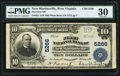 National Bank Notes, New Martinsville, WV - $10 1902 Plain Back Fr. 633 The First NB Ch. # 5266. ...