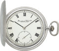 Timepieces:Pocket (post 1900), International Watch Co. Schaffhausen Unused 18k White Gold Pocket Watch. ...