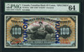 Canadian Currency, Toronto, ON- Canadian Bank of Commerce $100 Yukon Overprint Jan. 2,1898 Ch. # 74-14-57a Specimen.. ...