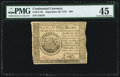 Continental Currency September 26, 1778 $50 PMG Choice Extremely Fine 45