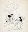 Animation Art:Production Drawing, Mickey Mouse and Minnie Mouse Consumer Products Illustrations Groupof 2 (Walt Disney, c. 1970s-80s).... (Total: 2 Items)