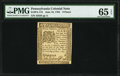Pennsylvania June 18, 1764 9d PMG Gem Uncirculated 65 EPQ