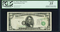 Error Notes:Shifted Third Printing, Misaligned Overprint Error Fr. 1962-F $5 1950A Federal Reserve Note. PCGS Very Fine 35.. ...
