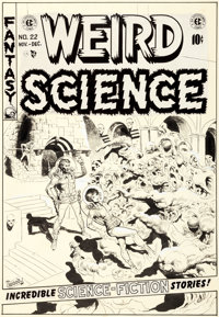 Wally Wood Weird Science #22 Cover Original Art (EC, 1953)