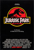 """Movie Posters:Science Fiction, Jurassic Park (Universal, 1993). One Sheet (26.75"""" X 39.75"""") DSAdvance Red Style. Chip Kidd and Sandy Collora Artwork. Scie..."""