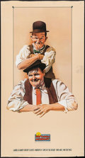 """Movie Posters:Comedy, Laurel and Hardy (Nostalgia Merchant, 1985). Video Poster (20"""" X37.5"""") Nelson Artwork. Comedy.. ..."""