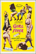 "Movie Posters:Sexploitation, Girl Fever (Leo Film Distributors, 1960). One Sheet (27"" X 41"").Sexploitation.. ..."