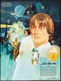 "Movie Posters:Science Fiction, Star Wars (20th Century Fox, 1977). Coca-Cola Promotional PremiumPosters (2) (18"" X 24"") Del Nichols, Luke Skywalker & Dart...(Total: 2 Items)"
