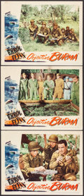 """Movie Posters:War, Objective Burma (Warner Brothers, 1945). Lobby Cards (3) (11"""" X14""""). War.. ... (Total: 3 Items)"""