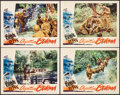 "Movie Posters:War, Objective Burma (Warner Brothers, 1945). Lobby Cards (4) (11"" X14""). War.. ... (Total: 4 Items)"