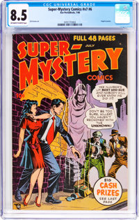 Super-Mystery Comics V7#6 (Ace, 1948) CGC VF+ 8.5 Off-white to white pages