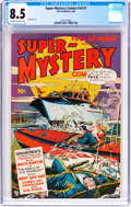 Golden Age (1938-1955):Science Fiction, Super-Mystery Comics V8#1 (Ace, 1948) CGC VF+ 8.5 Off-white towhite pages....