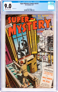 Super-Mystery Comics V8#3 (Ace, 1949) CGC VF/NM 9.0 Off-white to white pages