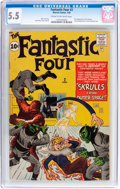 Silver Age (1956-1969):Superhero, Fantastic Four #2 (Marvel, 1962) CGC FN- 5.5 Cream to off-white pages....