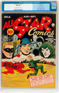 Golden Age (1938-1955):Superhero, All Star Comics #6 Rockford Pedigree (DC, 1941) CGC NM 9.4 Off-white to white pages....