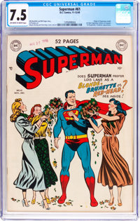 Superman #61 (DC, 1949) CGC VF- 7.5 Off-white to white pages