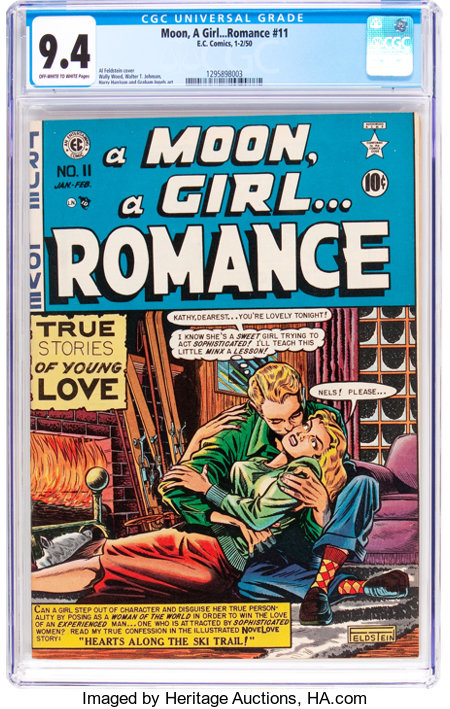 A Moon, A Girl...Romance #11 (EC, 1950) CGC NM 9.4 Off-white to white pages....