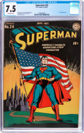 Golden Age (1938-1955):Superhero, Superman #24 (DC, 1943) CGC VF- 7.5 Off-white pages....
