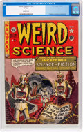 Golden Age (1938-1955):Science Fiction, Weird Science #14 (#3) (EC, 1950) CGC VF 8.0 Off-white pages....
