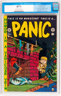 Panic #1 Gaines File Pedigree 3/12 (EC, 1954) CGC NM+ 9.6 Off-white to white pages