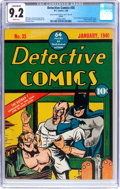 Golden Age (1938-1955):Superhero, Detective Comics #35 Larson Pedigree (DC, 1940) CGC Conserved NM- 9.2 White pages....