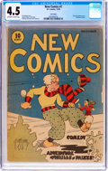 Platinum Age (1897-1937):Miscellaneous, New Comics #1 Lost Valley Pedigree (DC, 1935) CGC VG+ 4.5 Off-whiteto white pages....