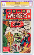 Silver Age (1956-1969):Superhero, The Avengers #1 Signature Series (Marvel, 1963) CGC Apparent VF 8.0Moderate (P) Off-white to white pages....