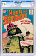 Silver Age (1956-1969):Horror, House of Secrets #1 (DC, 1956) CGC FN/VF 7.0 Off-white to whitepages....