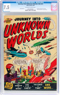 Golden Age (1938-1955):Science Fiction, Journey Into Unknown Worlds #36 (#1) (Atlas, 1950) CGC VF- 7.5Off-white to white pages....