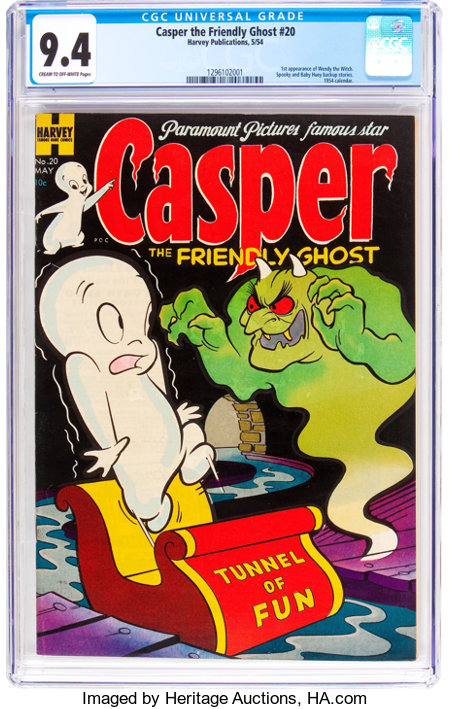 Casper the Friendly Ghost #20 (Harvey, 1954) CGC NM 9.4 Cream to off-white pages....