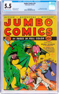 Golden Age (1938-1955):Science Fiction, Jumbo Comics #10 (Fiction House, 1939) CGC FN- 5.5 Off-white towhite pages....