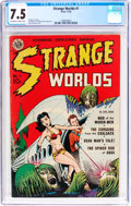 Golden Age (1938-1955):Science Fiction, Strange Worlds #1 (Avon, 1950) CGC VF- 7.5 Off-white to whitepages....
