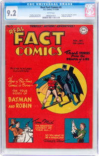 Real Fact Comics #5 (DC, 1946) CGC NM- 9.2 White pages