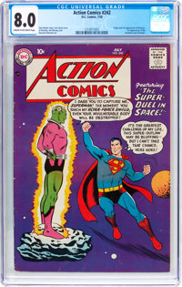 Action Comics #242 (DC, 1958) CGC VF 8.0 Cream to off-white pages