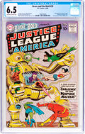 Silver Age (1956-1969):Superhero, The Brave and the Bold #29 Justice League of America (DC, 1960) CGC FN+ 6.5 Off-white to white pages....