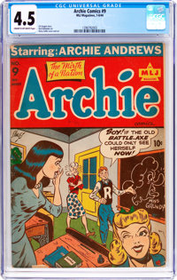Archie Comics #9 (MLJ, 1944) CGC VG+ 4.5 Cream to off-white pages