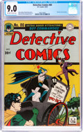Golden Age (1938-1955):Superhero, Detective Comics #80 (DC, 1943) CGC VF/NM 9.0 Off-white to white pages....