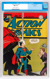 Action Comics #87 Hawkeye Pedigree (DC, 1945) CGC NM+ 9.6 Off-white to white pages