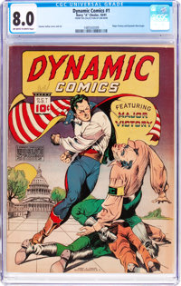 Dynamic Comics #1 (Chesler, 1941) CGC VF 8.0 Off-white to white pages
