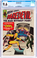 Silver Age (1956-1969):Superhero, Daredevil #3 (Marvel, 1964) CGC NM+ 9.6 Off-white to whitepages....