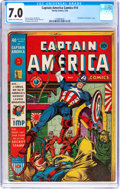 Golden Age (1938-1955):Superhero, Captain America Comics #14 (Timely, 1942) CGC FN/VF 7.0 Cream to off-white pages....