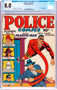 Police Comics #5 (Quality, 1941) CGC VF 8.0 Cream to light tan pages
