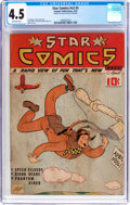 Golden Age (1938-1955):Miscellaneous, Star Comics V2#3 (Centaur, 1939) CGC VG+ 4.5 Off-white pages....