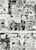 Original Comic Art:Panel Pages, Will Eisner and Wally Wood The Spirit Weekly NewspaperSection Story Page 6 Original Art dated 7-27-52 (Register a...